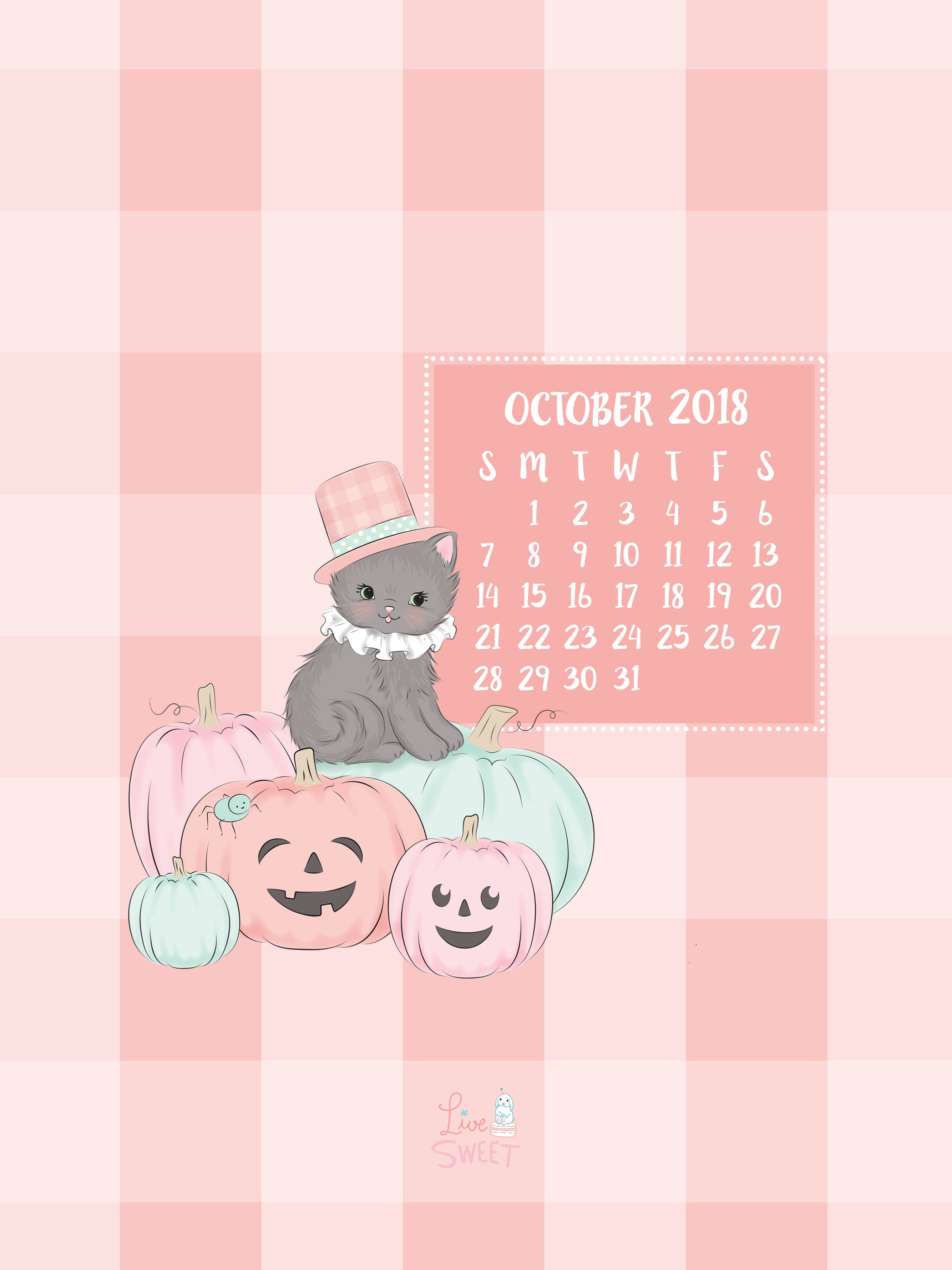 October 2018 Free Wallpapers! - Live Sweet